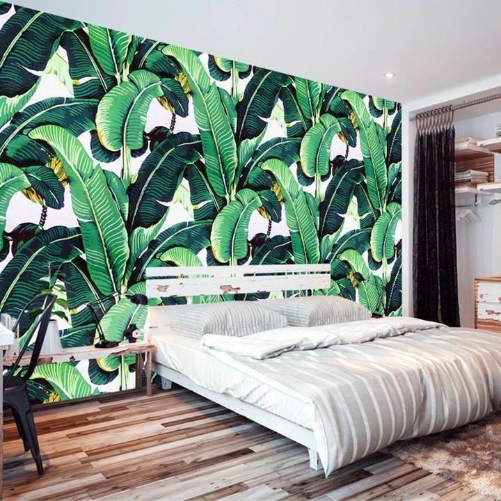 Tropical Banana Leaves Wallpaper Mural (㎡) Wallpaper