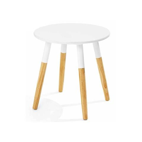 Round Side Table - 2 Tone White | Kmart