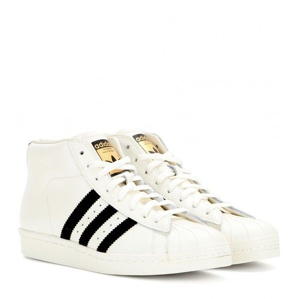 Adidas Pro Model Vintage Sneakers (630 ILS) ❤ liked on Polyvore featuring  shoes,