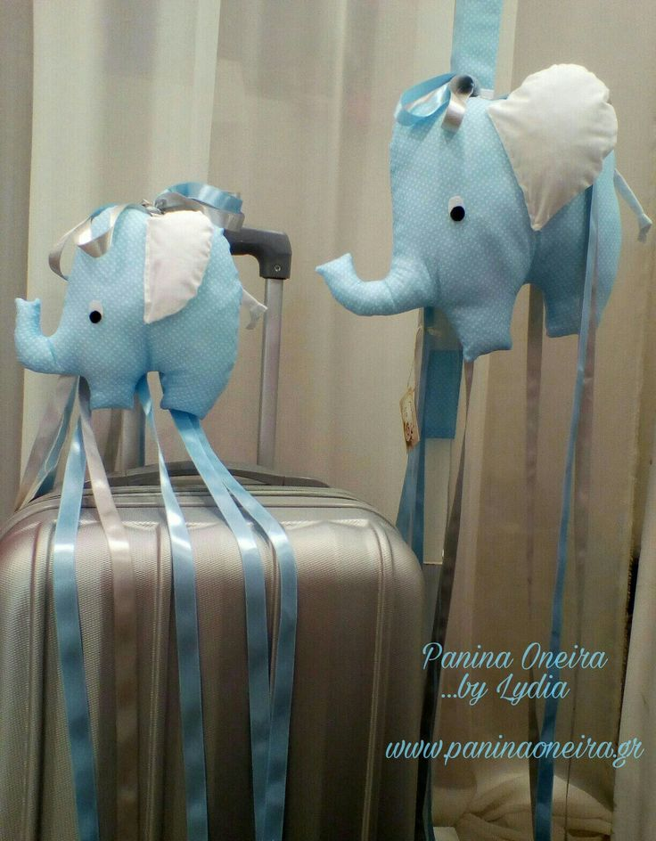 Handmade decorative  elephants for baptism! @paninaoneira