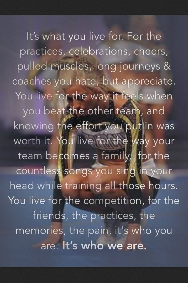 Cheer quotes.  One thing I would change about this quote is the part about hating coaches. Our team sang many songs on the way to, during and after competition. Most of these from pitch perfect. #crushedIT