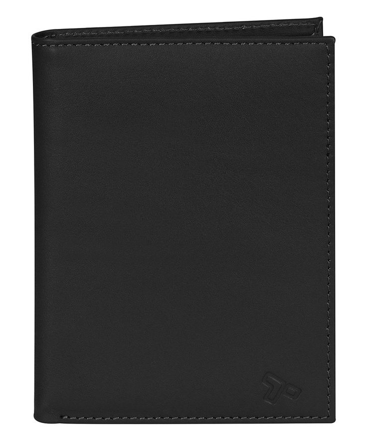 Take a look at this Black RFID-Blocking Leather Passport Wallet today!