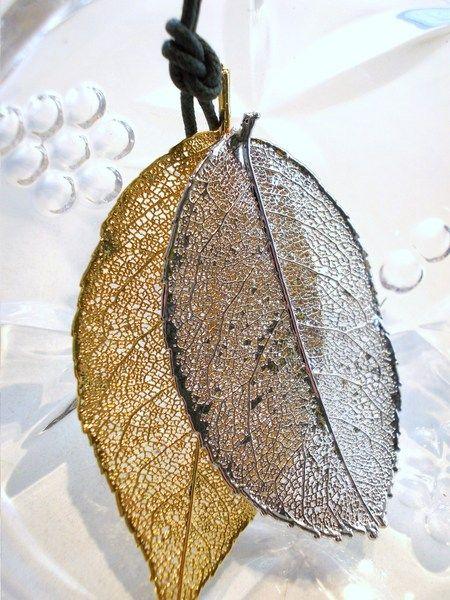 Listek Róży ( luksusowy-złoto/srebro) w ATELIER LUKSUSOWEJ BIZUTERII INSPIROWANEJ NATURA   na DaWanda.com