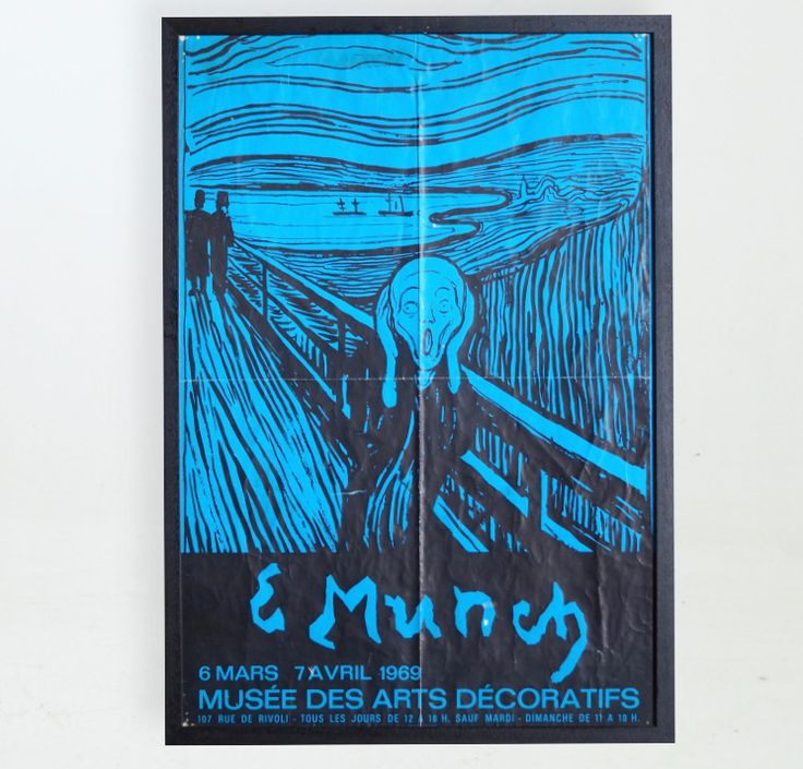 Ref No. 12471-2D  Rare poster. Edward Munch. 1969.