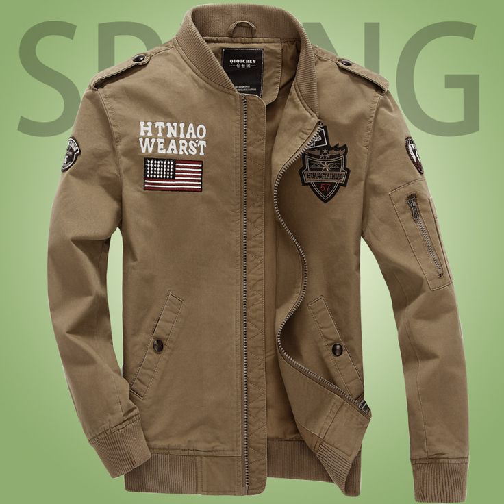 2016 Spring and Autumn Men's Flying Tigers Air Force One jacket Washing Cotton German uniform Jacket Bomber Military Jacket 4XL