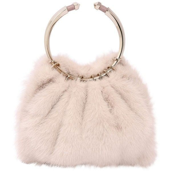 Valentino Women Bebop Loop Mink Fur Bag 3 505 Liked On Polyvore Featuring Bags Handbags Light Pink Pink Handbags Pink Shoulder Bags Valentino Handbags
