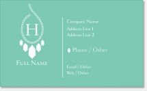 jewelry necklace Premium Business Cards