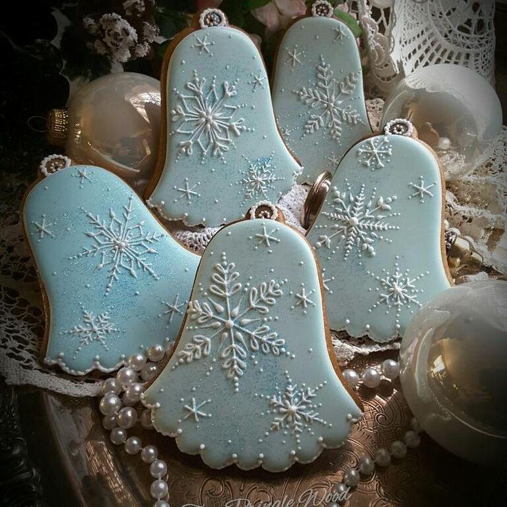 Frosty snowflake bells by Teri Pringle Wood