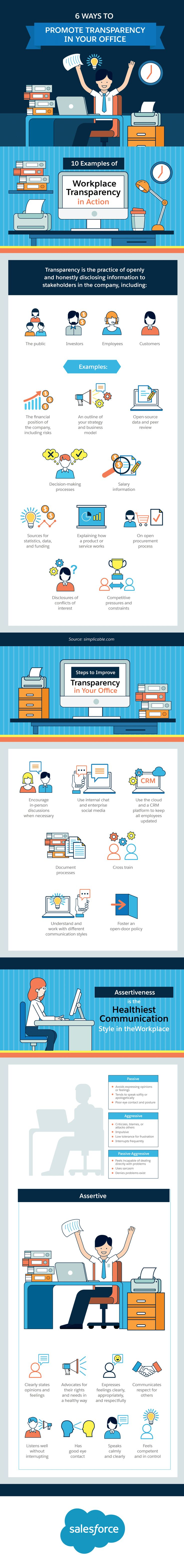 6 Ways to Promote Transparency in Your Office #Infographic #Business #Productivity