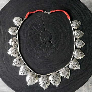 blaxsand - traditional leaves caping sumba necklaces 925 silver plating on copper