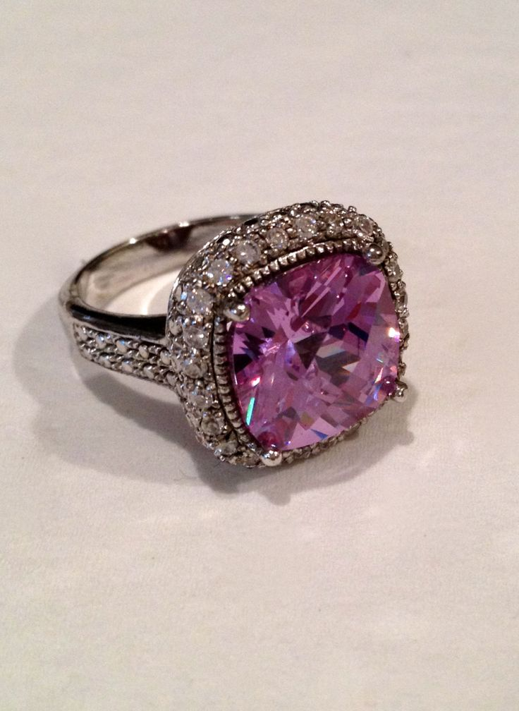 Vintage Sterling Silver Lavender Estate Jewelry Ring. $89.00, via Etsy.