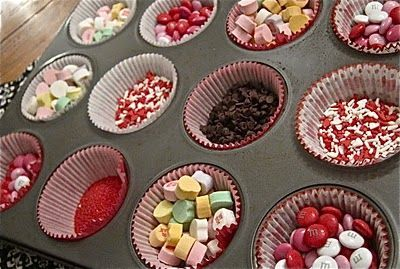 Valentine's Day Cup Cake Buffet