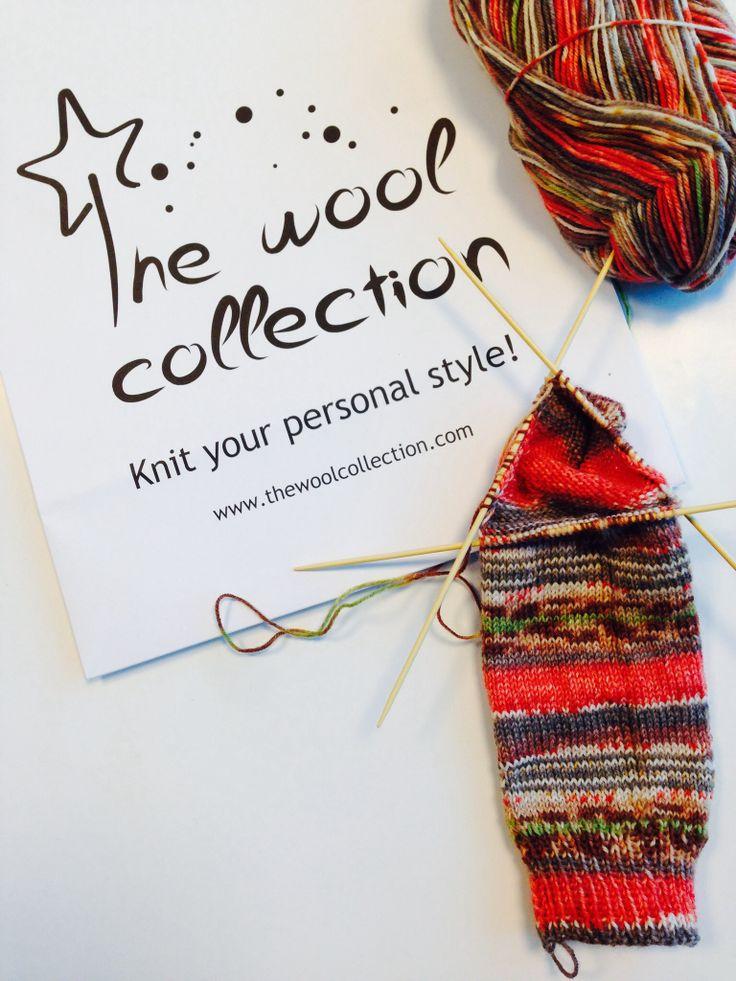 Calcetín para regalar día del padre. #socks #knitting #diadelpadre #tejer