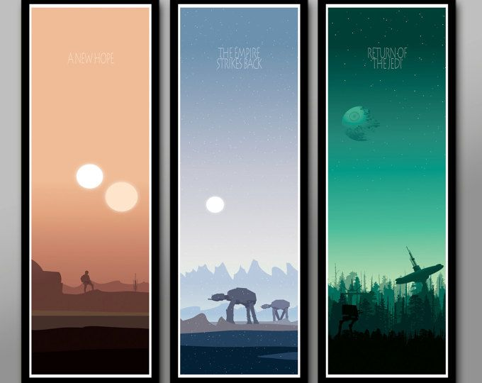 Our Newest Sunset Set Includes 4 Posters From Our Favorite Movie Series Of All Time Enjoy 13 X Star Wars Canvas Art Star Wars Painting Star Wars Poster
