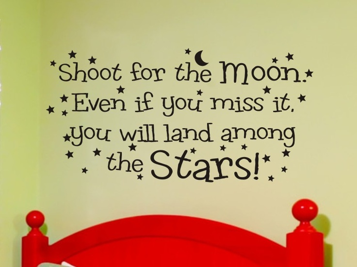 Childrens Bedroom Wall Decal Shoot For The Moon >> Wall Decals - Wall Quote Decals - Home Decor Graphics --> http://vgwalldecals.com