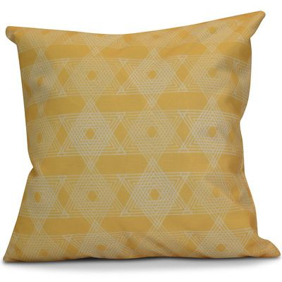 The Holiday Aisle Hanukkah 2016 Decorative Holiday Geometric Euro Pillow Color: Yellow