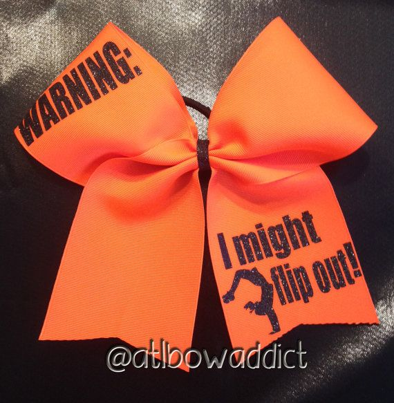 Hey, I found this really awesome Etsy listing at https://www.etsy.com/listing/187853770/cheer-bow-warning