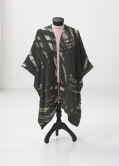 Black Whirl Wrap: What a beautiful product! expressionistic artwork by Tanna Espy, fabricated into a sheer wrap by VIDA.  shopVIDA.com
