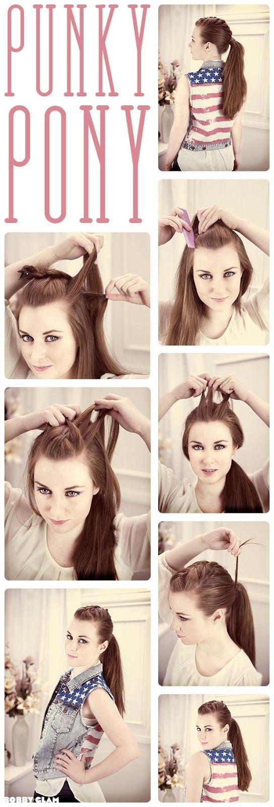 Punky Ponytail Hair Tutorial | hairstyles tutorial