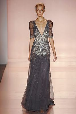To die for!!!! Jenny Packham Spring 2011 RTW V-Neck Starburst bride| http://wedding-dress-collection-488.blogspot.com