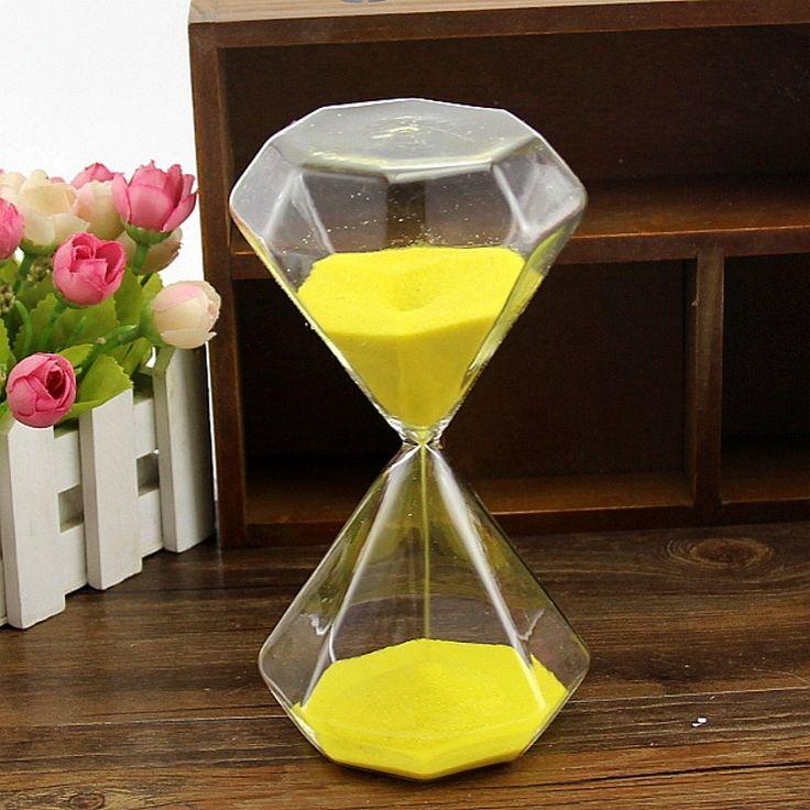 Colors Diamond Glass Hourglass Timer 30 Minutes Decoration Magnetic ampulheta home decor sablier reloj de arena temporizador