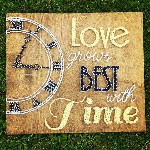 Love Grows Best With Time String art anniversary by BlossomsNKnots