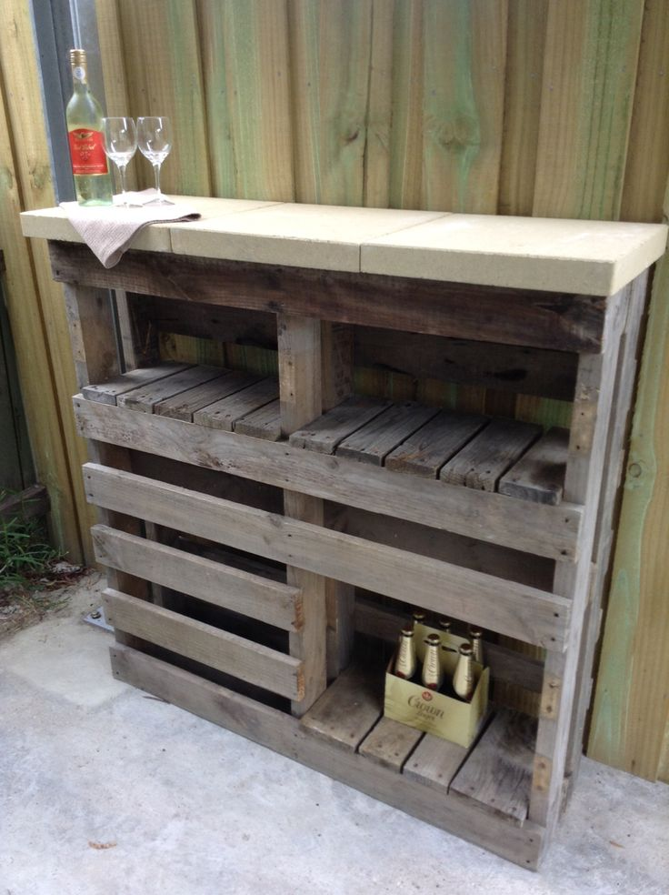 Our Pallet Paver Bar We Built Today Cost 24 And So Much