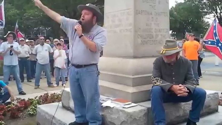 CONFEDERATE FLAG RALLY IN GASTON COUNTY NC - 6_27_2015