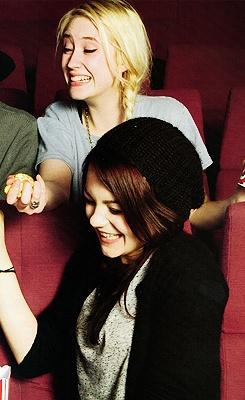 Lily Loveless, and Kathryn Prescott, Skins.