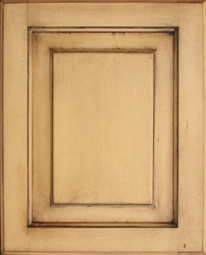 DIY: Cabinet Door Antiqued Using Wood Stain Over Paint.