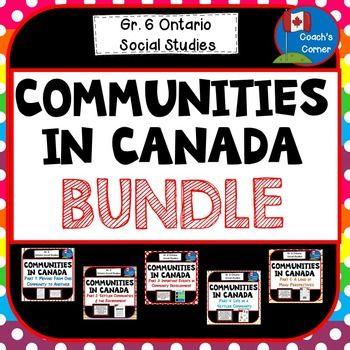 Communities in Canada Bundle - Ontario Social Studies Grade 6