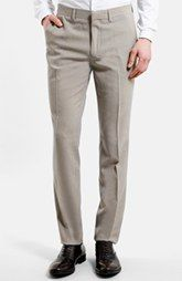 Topman Skinny Fit Micro Houndstooth Suit Trousers