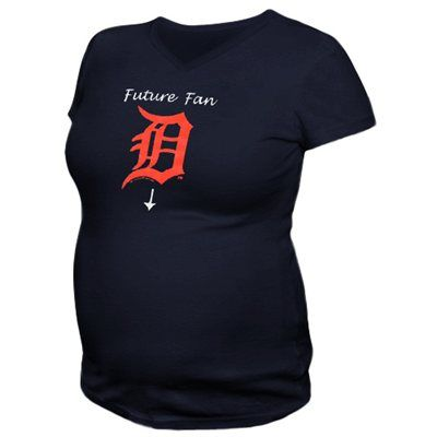 Cute! Detroit Tigers Maternity T-Shirt. I WILL have this someday.