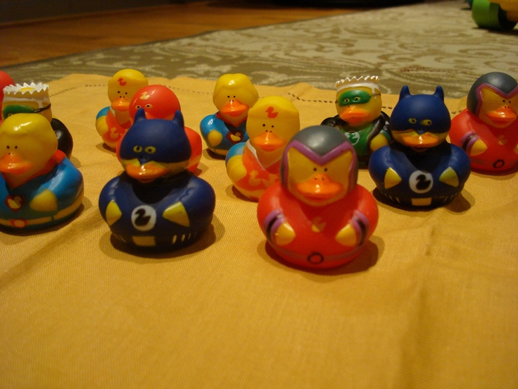 Superhero ducks... makes awesome party favors especially for the younger kids!