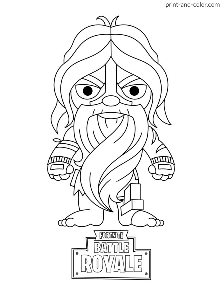 Fortnite coloring pages in 2020 | Coloring pages, Print ...