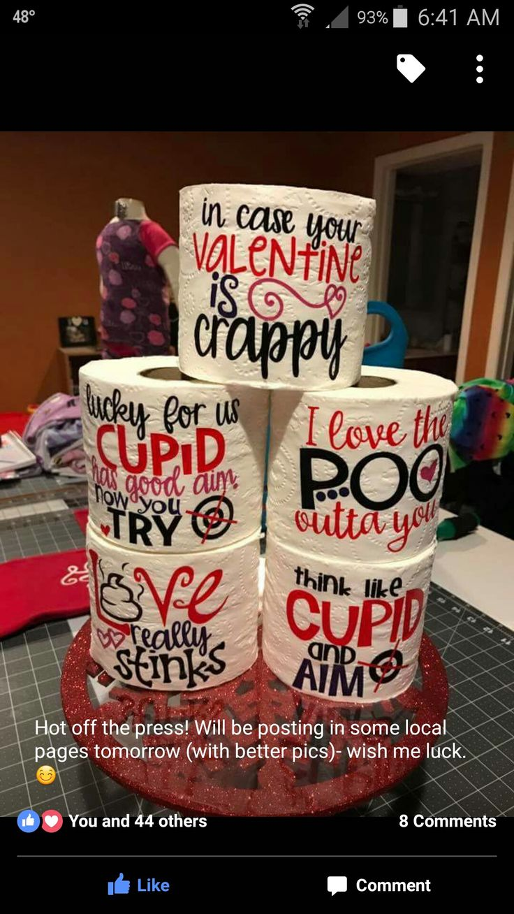 Cricut Toilet Paper Lol Valentine S Day Valentines