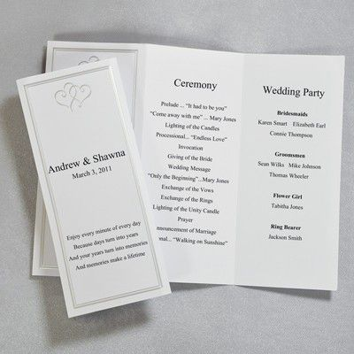 Tri-Fold Wedding Program Templates Debra\u0027s Pink and Pearls Wedding