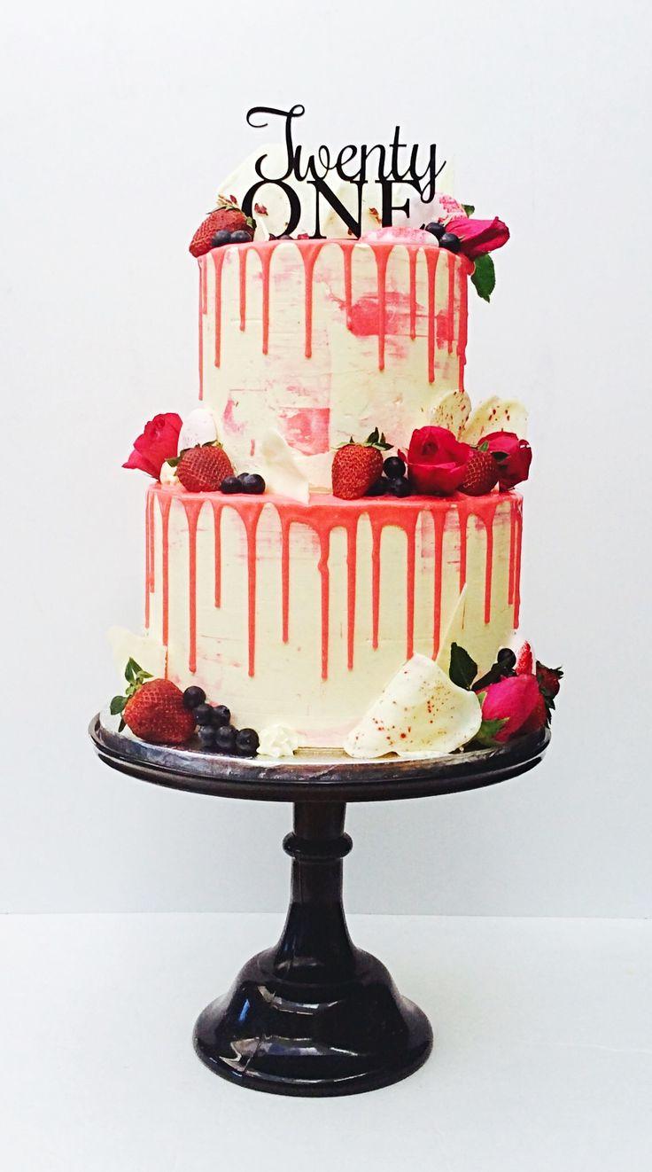 2 tier drizzle cake