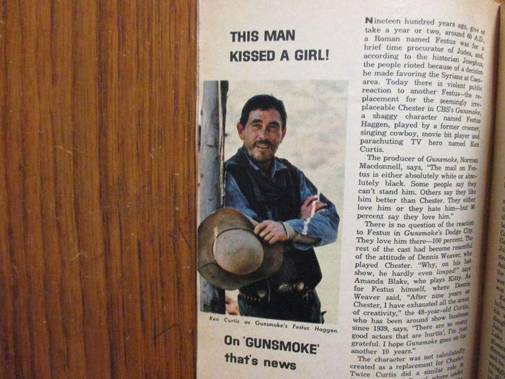 June-1964 TV Guide(KEN  CURTIS/INGER STEVENS/GUNSMOKE/BARBARA BAIN/JOHNNY CARSON