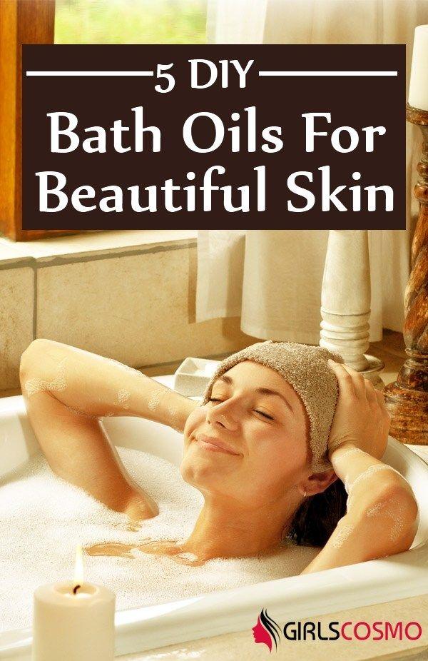 DIY Bath Oils For Beautiful Moisturized Skin