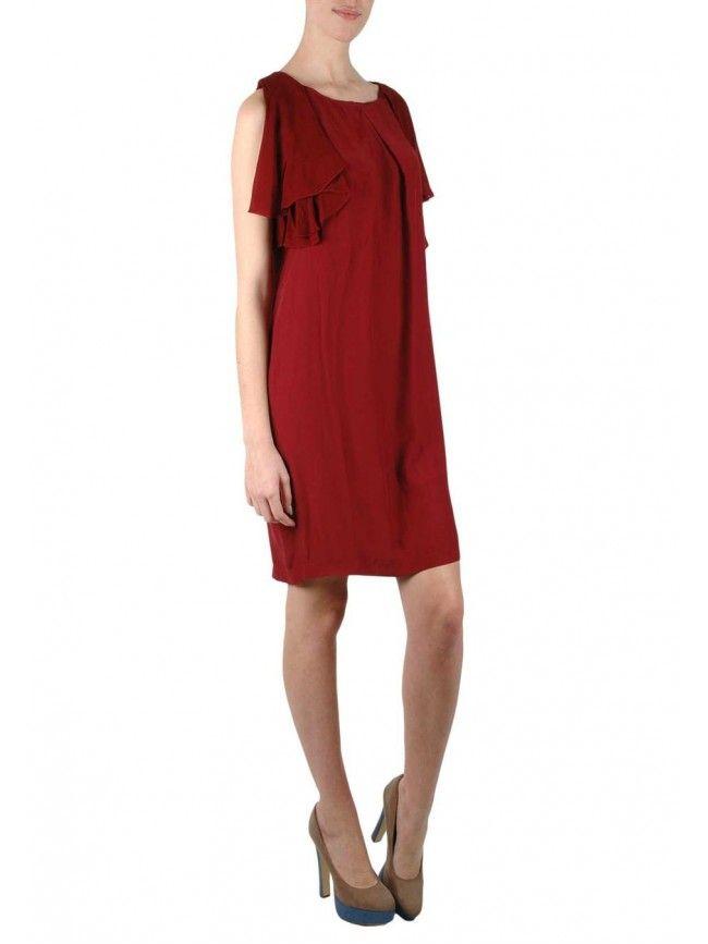 #Vestido corto con mangas de murciélago y gasa con capa por detrás. Colección #Fornarina primavera verano 2016 #Moda #Fashion #Vestidos #Dress