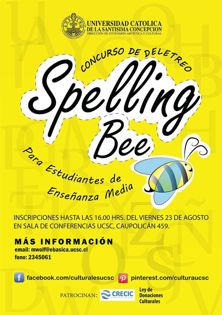 """Afiche concurso """"Spelling Bee"""""""