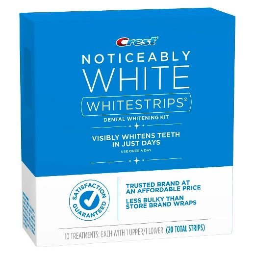 Crest Whitestrips Noticeably White - 10 Count : Target
