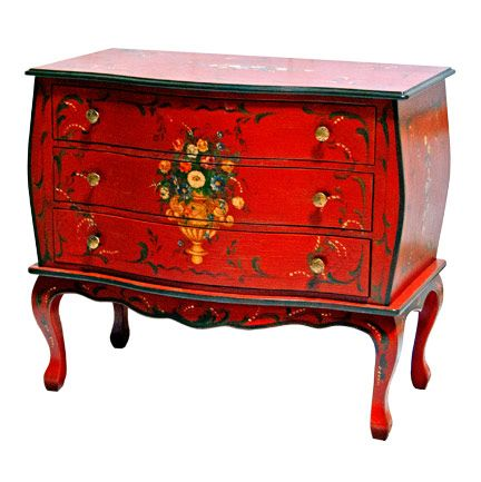 Hand Painted Furniture, Bombe Chest From Brighton Pavilion.