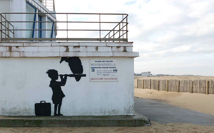 Juxtapoz Magazine - Banksy: New Work at Syrian Refugee Camp in France
