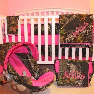 Realtree Pink Camo Crib Bedding
