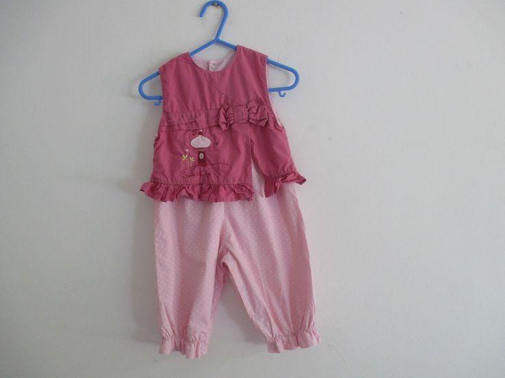 Baby girls Sucre D orge pink designer jumpsuit, one piece, 6 months