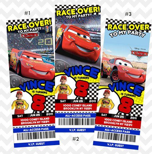 Disney Cars Einladung, Cars Geburtstag Einladung