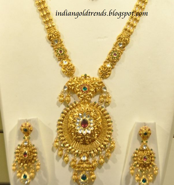 Indian Bridal Necklace Set 22k: Latest Indian Gold And Diamond Jewellery Designs: Malabar