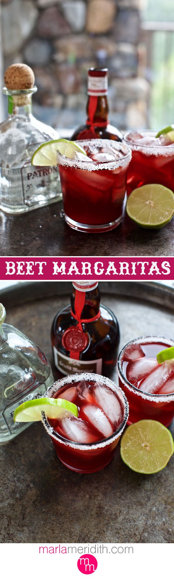 Beet Margaritas | A festive party cocktail! MarlaMeridith.com ( @marlameridith )